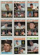 1964 Topps Partial Set Lot Of 104 Different Baseball Cards High Grade