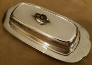Vintage Oneida Ltd Silver Plated Butter Dish With Insert