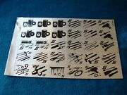 Vintage Snap-on Tools Tool Box Cabinet Stickers- Decal Ssx1282a.
