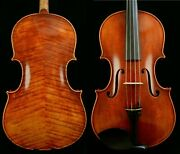 Outstanding Sounding 415 Mm Viola Broad Flame Back 200-year Old Spruce