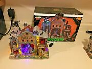 Dead As A Doornail Morgue - 2008 Lemax Spooky Town . Only Missing Rotating Birds