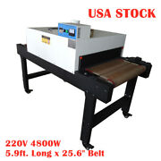 Us Stock 4800w Conveyor Tunnel Dryer 25.6 X 5.9and039 Belt T-shirt Screen Printing
