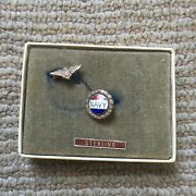 Wwii Usn Navy Pilot Sweetheart Sterling Homefront Pin Jewelry
