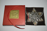 Lenox Crystal And Sterling Snowflake Ornament 2006