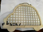 Vintage 1980andrsquos Plastic Clip On Charm Holder Car Shape 15x9.5 Holds 750 Charms