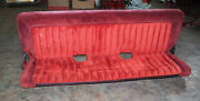 1988-1994 Chevy Gmc Pickup Truck Extended Cab Rear Bench Seat Red Oem Nice