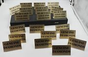 Lot 20 Pawn Shop Jewelry Counter Display Showcase We Buy Gold And Diamonds Signs