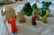 Vintage 60s 70s Rubber Squeaky Toy Lot Of 8 Baby Joy Sanitoy Gabriel Cbs Larger