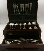 Towle King Richard Sterling Silver Flatware 48 Pieces W/wooden Box.