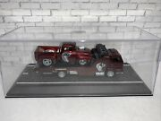 Hot Wheels Custom 56 Ford Shelby F100 And Custom Matching Hauler Real Riders