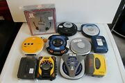 Lot Of Defective Personal Cd And Cassette Players Parts Repair Sold As Is