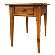 Ethan Allen Country Craftsman Rustic Pine 1 Drawer Side End Lamp Table 19-8305