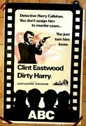 Dirty Harry 1971 Original Abc British Double Quad Crown Poster .60 X 40 Inches
