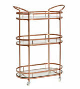 26andfrac34 In. X 12andfrac12 In. X 37⅜ In. Westwood Antique Copper Bar/serving Cart