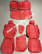 2015-2021 Dodge Challenger Custom Katzkin Leather Seat Replacement Covers - Red