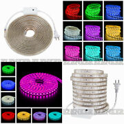 5050 Smd Led Strip Rope Tape Light Xmas Lamp Home Outdoor Ip68 Waterproof 110v