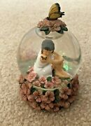 Westland Kim Anderson's Forever Young Snow Globe 6209 Little Girl Butterfly
