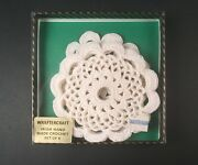 Irish Handmade Crocheted Doilies - Wraftercraft New Old Stock 6 Pieces 4 Wide
