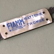Vintage Advertising Air Horn Fiamm Battery Folding Pocket Knife Made In Italy