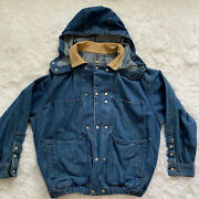 Menandrsquos Calvin Klein Denim Jacket Weathered American Classic Size Xl Hooded
