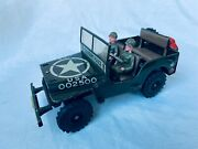 Arnold 2500 Military Jeep Us Army Wind-up Blech Auto / Tin Toy Truck Rare