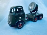 Arnold 678 Military Searchlight Truck Battery Blech Auto / Tin Toy Truck Rare