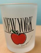 New York Large Shot Glass Frosted Glass Still Has Sticker Paradies Collection