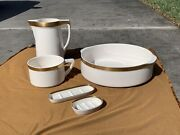 Antique Villeroy And Boch Basin Pitcher Soap Dish Wash Set Bed And Breakfast Decor