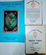 1969 Vintage Original Aleister Crowley Thoth Tarot Card Deck Book Of Thoth