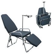 Portable Dental Folding Chair Microfiber Leather With Stainless Steel Frame