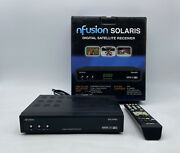 Solaris Nfusion Digital Satellite Receiver Rs-232c Dvb Usals W/ Remote And Box