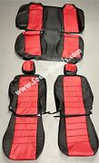 Katzkin Dodge Charger Se Sxt Black And Red Leather Seat Covers 2006 - 2010