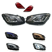 For 13-17 Mercedes Benz S-class W222 Led Facelift Upgrade Multibeam Headlights