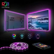 Colorrgb Tv Backlight Usb Powered Led Strip Light Rgb5050 For 24 Inch-60 Inch Tv