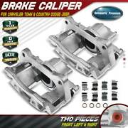 2x Brake Calipers W/ Bracket For Chrysler Town And Country Dodge Jeep Ram Vw Front
