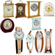 Wall And Mantle Clocks In Multiple Styles   Made Of Glass/plastic/metal/wood