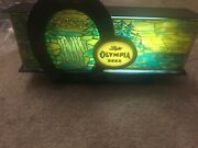 Vintage Olympia Beer Lighted Sign Great Condition Man Cave Bar Pub Collector