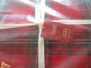 Williams Sonoma Tartan Red Plaid Christmas Tablecloth 70 X 144 New With Tag