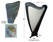 42 Strings Lever Harp With Free Strings Tuning Key And Bag Rosewood Handmade
