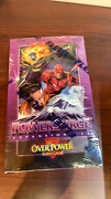 1 Sealed Box Of Marvel Overpower Cardgame 1995 Powersurge Expansion Packs