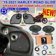 2015 21 Harley Road Glide Diamond Audio Pro Speaker Micro2v2 Mspro65 Mo75t Horns