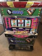 Fun 2002 Japanese Lucky Chance 8 Ball Token Slot Machine For Parts Or Repair