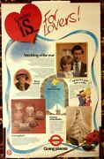 Charles And Lady Diana Spencer London Tourist Board 1981 British Poster