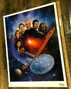 Vintage Poster Star Trek The Next Generation Limited Edition Print 1992 Rolled