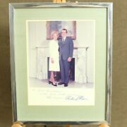 Richard And Pat Nixon Signed Photo Whitehouse, President First Lady Bachrach