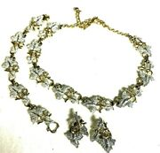 Vintage Textured Silver And Gold Tone Metal Sarah Coventry Necklace And Bracelet Set