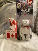 Maple The Bear - 1996 Mcdonalds Ty Beanie Baby Brown Nose