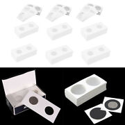 600 Pcs Coin Flips Coin Collecting Holder Card Collection Supplies 12 Sizes