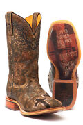 Tin Haul Marbled Mens Brown Leather John 316 Cowboy Boots