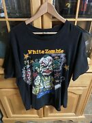 Vintage 1995 White Zombie Freaks And Human Oddities T Shirt Xl Rob 90s Clown